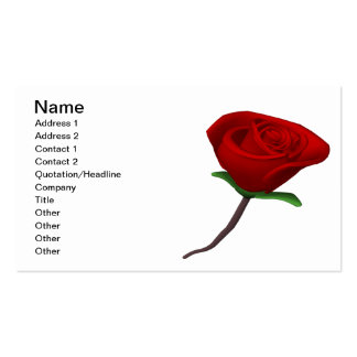 Rosa rojo plantillas de tarjetas de visita