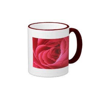 Rosa rojo taza a dos colores