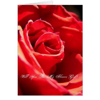 ¿Rosa rojo, usted será mi florista? Tarjeta De Felicitación