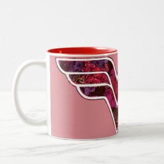 Rosa rojo WW Tazas De Café