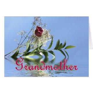 Rosa rojo y reflexión para el día de madre de la tarjeta de felicitación