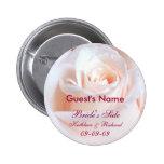 Rosa romántico personalizado casando el botón de l pin