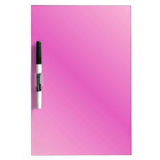 Rosa rosa claro y oscuro de la pendiente tablero blanco