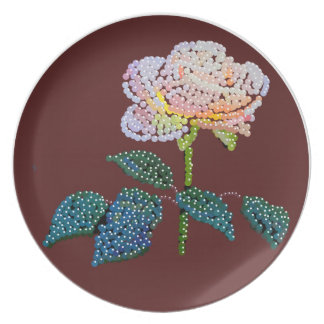rosa rosado Bedazzled Platos Para Fiestas