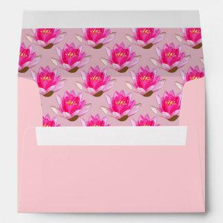 Rosa rosado de Waterlilies Sobre