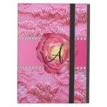 Rosa rosado del cordón del monograma subió