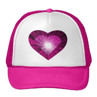 """Rosa rosado del gorra del camionero del """"corazón"""""""