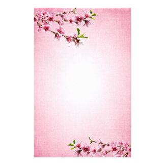 Rosa rosado del vintage de las flores de cerezo papeleria