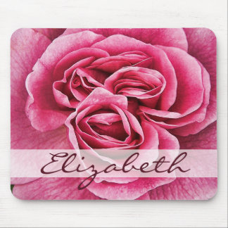Rosa rosado personalizado tapetes de raton