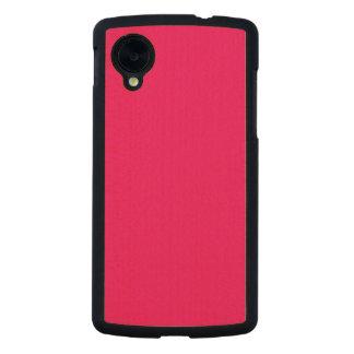 Rosa Rosado-Tropical Rosado-Rosa-Caliente de Funda De Nexus 5 Carved® De Arce