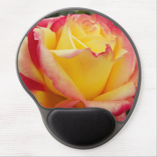 Rosa rosado y amarillo alfombrillas de ratón con gel