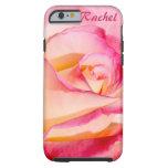 Rosa rosado y amarillo bonito funda para iPhone 6 tough