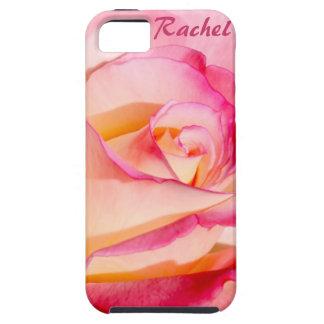 Rosa rosado y amarillo bonito iPhone 5 carcasa