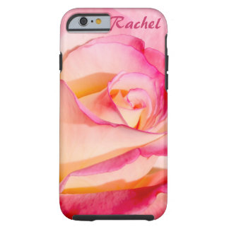 Rosa rosado y amarillo bonito funda para iPhone 6 tough
