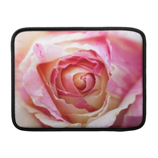 Rosa rosado y blanco fundas para macbook air