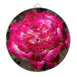 Rosa rosado y blanco magenta tabla dardos