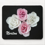 Rosa rosado y blanco Mousepad de Norton Alfombrillas De Raton