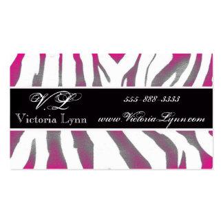 rosa rústico de la cebra tarjetas de visita