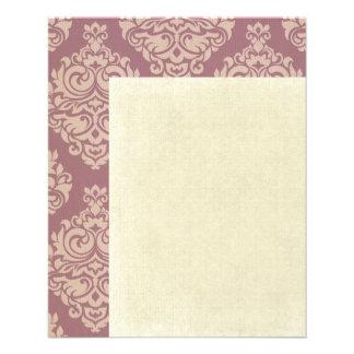 "rosa rústico, marrón, coralino, damascos, folleto 4.5"" x 5.6"""