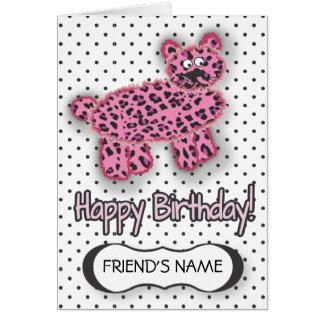 Rosa SALVAJE de la tarjeta de cumpleaños del leopa