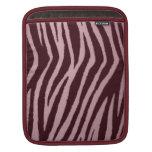 Rosa salvaje del estampado de zebra funda para iPads