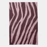 Rosa salvaje del estampado de zebra toalla