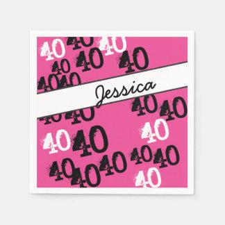 Rosa salvaje personalizado de las 40.as de servilletas desechables