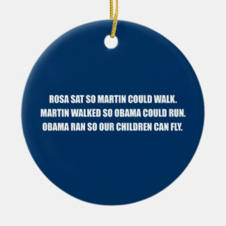 ROSA SAT SO MARTIN COULD WALK.png Double-Sided Ceramic Round Christmas Ornament