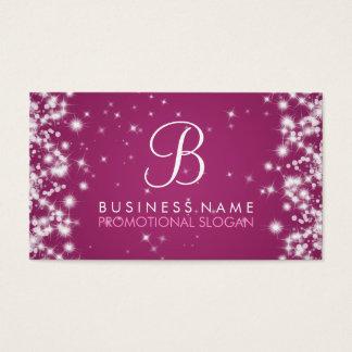 Rosa simple de la baya del monograma de la chispa tarjeta de negocios