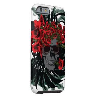 Rosa skull art Case-Mate Tough iPhone 6 Case