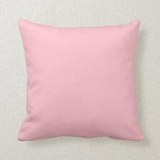 Rosa sólido almohadas