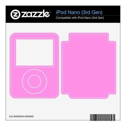 Rosa soñador skin para el iPod nano 3G