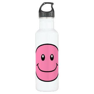 Rosa sonriente 0001 de la cara botella de agua