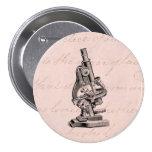 Rosa Steampunk del ejemplo del microscopio del vin Pins