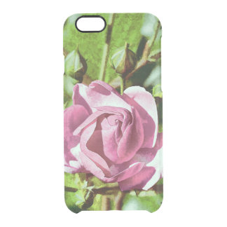 Rosa subió, naturaleza funda clearly™ deflector para iPhone 6 de uncommon