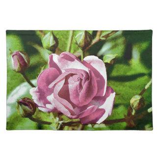 Rosa subió, naturaleza manteles