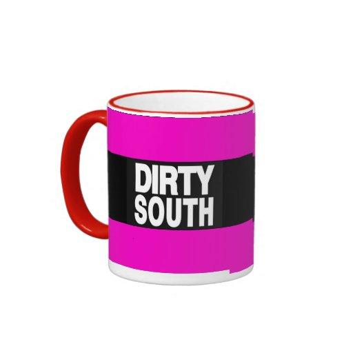 Rosa sucio del sur 2 taza a dos colores