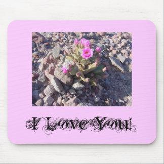 ¡Rosa te amo! Mousepad