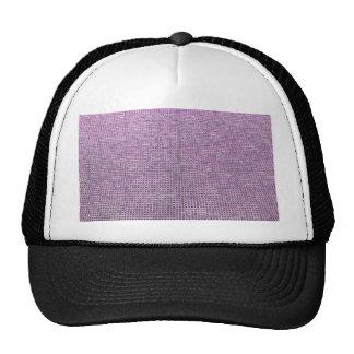 rosa tejido de la estructura gorras de camionero