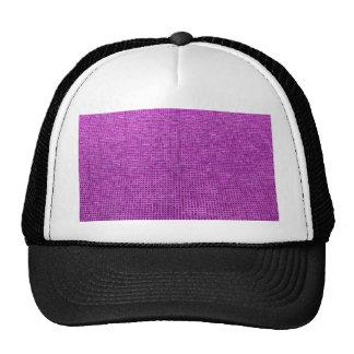 rosa tejido del neón de la estructura gorras de camionero