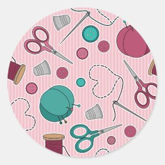 Rosa temático de costura lindo del modelo pegatina redonda