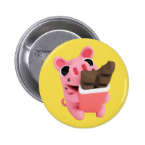 Rosa the Pig Chocolate Button