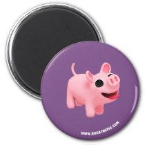 Rosa the Pig Jumps Magnet