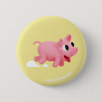 Rosa the Pig keep running Pinback Button
