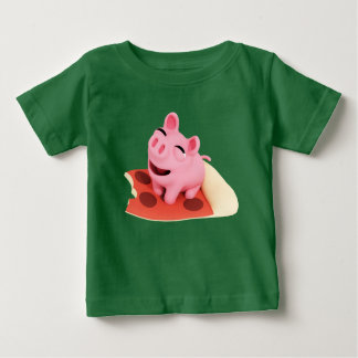 Rosa the Pig Love pizza Baby T-Shirt