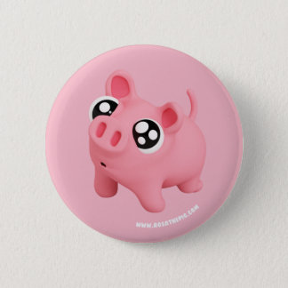 Rosa the Pig puppy Eyes Pinback Button