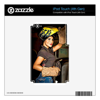 Rosa-the-welder Decal For iPod Touch 4G