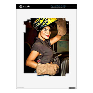 Rosa-the-welder Skins For iPad 2