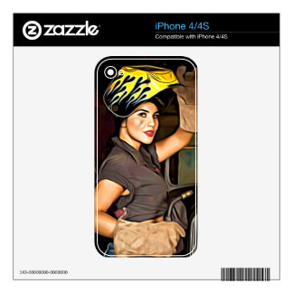 Rosa-the-welder Skins For The iPhone 4S