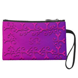 Rosa tonal de la elegancia y con monograma púrpura